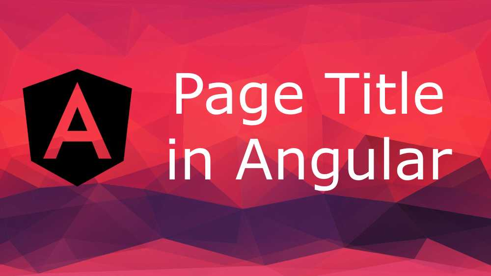 page title angular